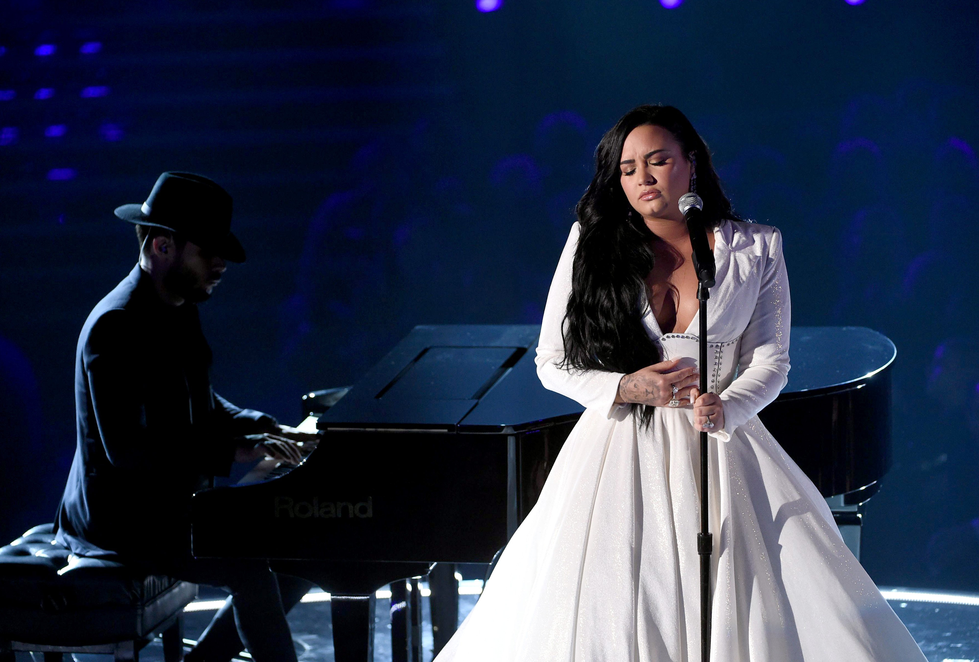 Demi Lovato canta no Grammy 2020 - KEVIN WINTER / GETTY IMAGES NORTH AMERICA / AFP