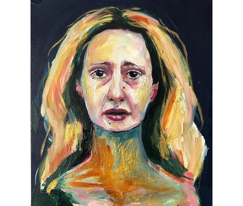 Capa do álbum 'Aos prantos', de Letrux Ana Alexandrino com arte de Pedro Colombo
