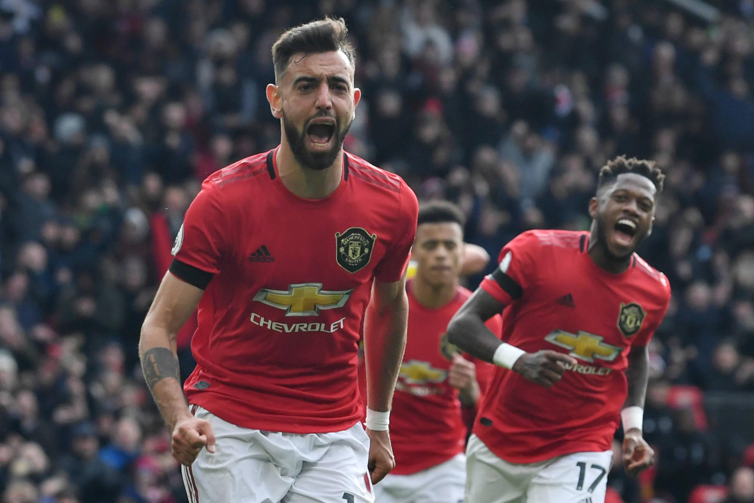 Bruno Fernandes marca pela primeira vez e United vence o Watford