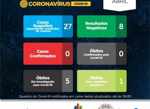 A Prefeitura do Município de Leme, através da Secretaria de Saúde, informa a população sobre o Covid-19.