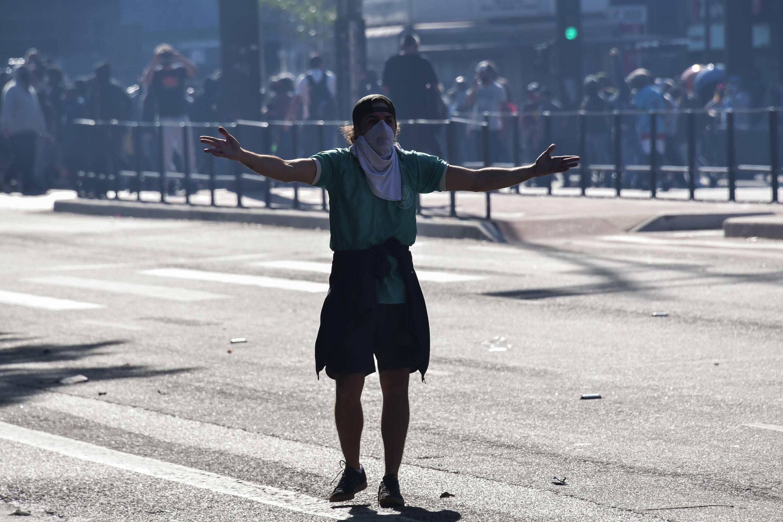 Confira fotos do ato pró-democracia dos torcedores em São Paulo